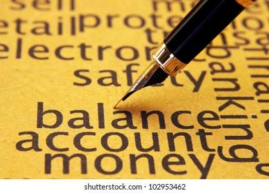 Balance account money