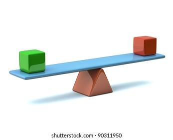 Balance concept 3d - counterpoise