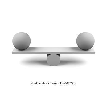 Balance concept. 3d image.