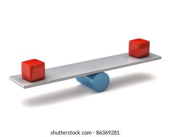 Balance concept on white background