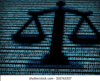 Balance in digital background. Concept of technology law, lawsuit, digital law, net neutrality
