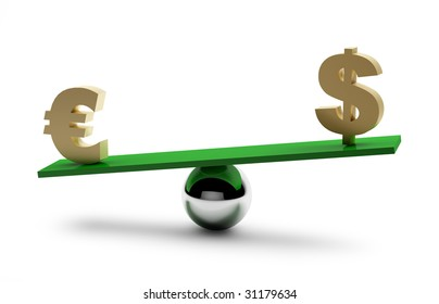 Balance of dollar and euro