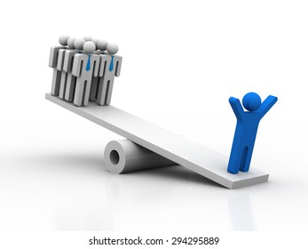 Balance. Leadership concept. Business metaphor
