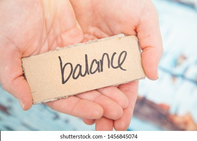 Balance in life, in your hands