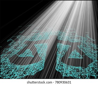 Balance network line abstract background. Concept of technology law, lawsuit, digital law, net neutrality
