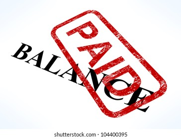 Balance Paid Stamp Shows Bill Payment Made