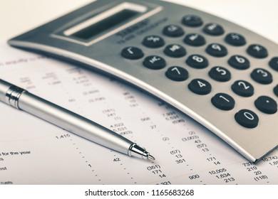 Balance sheet and calculator