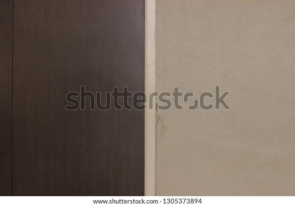 Balanced Brown Doors Light Brown Walls Stock Photo Edit Now 1305373894
