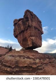 Balanced Rock from Below Garden of the Gods