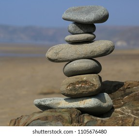 Balancing Stones at Newgale, Pembrokeshire, Wales