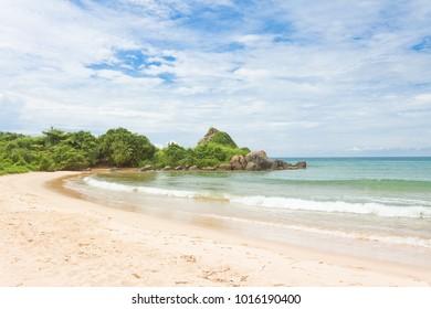 Balapitiya, Sri Lanka, Asia - A nice abandoned bay at the beach of Balapitiya