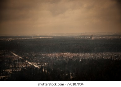 "BALASHIKHA, RUSSIA - DECEMBER 2, 2017: Center for Space Communication OKB MEI ""Medvezhi Ozera"""