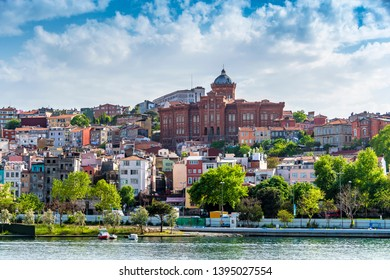 Balat District view from sea in Istanbul