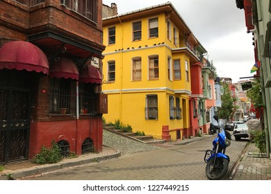 Balat is located on the shore of Golden Horn, Istanbul. It is famous for its colorful streets.