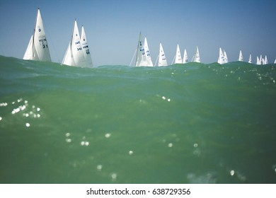 BALATON, HUNGARY - June 5. 2010: Dragon European Championsihp 2010, Balaton, Hungary