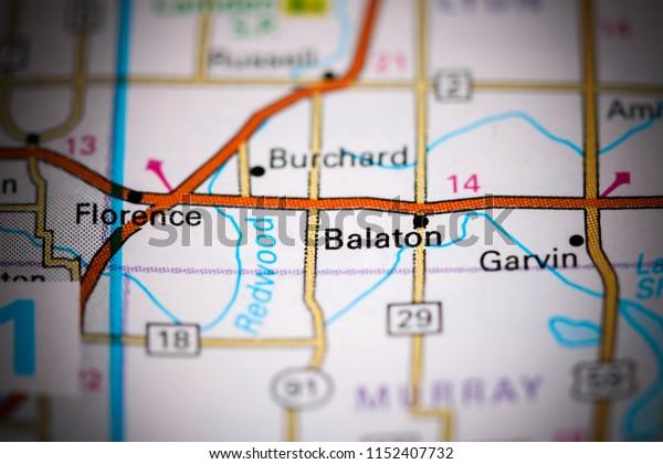 Balaton. Minnesota. USA on a map