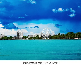 Balaton view, Siofok giant wheel and beach