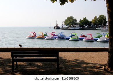 Balatonfured, Hungary 08.17.2018 boats and yachts in the harbour of Baltonfured