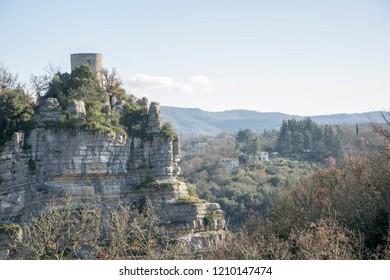 Balazuc, village in Ardeche, France