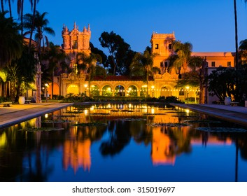 Balboa Park in San Diego California at night