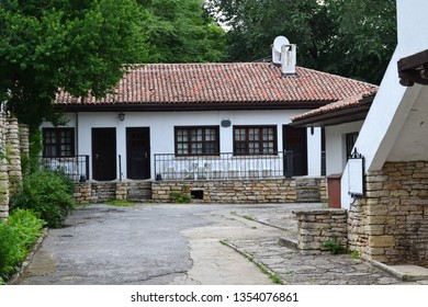 Balchik Bulgaria \ Bulgaria. 06.21.2014 Park Museum. An old building in the middle of a park museum.
