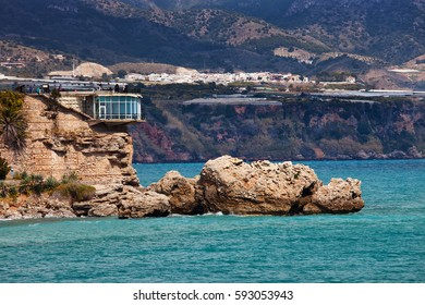 Balcon de Europa or Balcony of Europe in Nerja town on Costa del Sol, Andalucia, Spain
