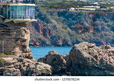 The Balcon de Europa in Nerja on the Costa del Sol, province of Malaga, Spain