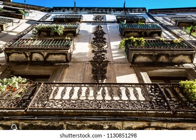 The balconies in Barcelona