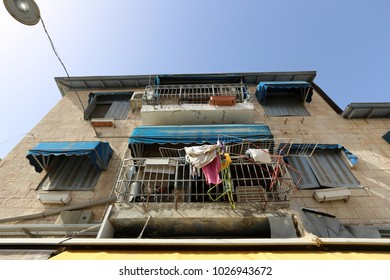 balconies and windows in the city of Jerusalem