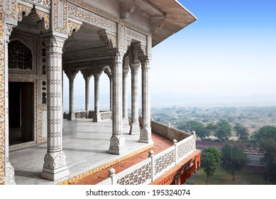 Balcony in Agra Red Fort, India