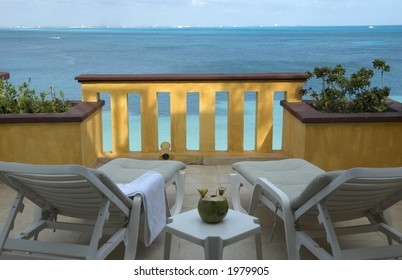 Balcony in Cancun, Mexico