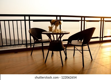 balcony of the house