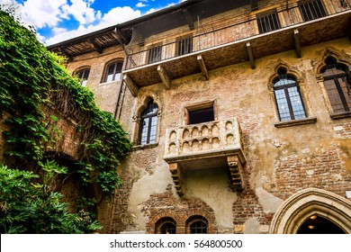 balcony of Juliet's house in Verona, Italy