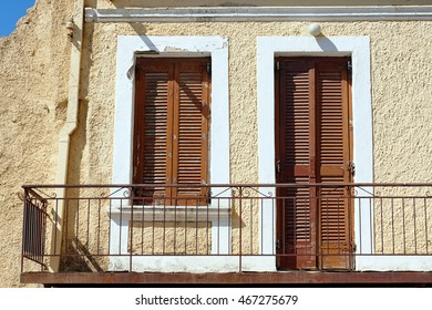 Balcony in an old building in the town of Chania on the island of Crete - Shutterstock ID 467275679