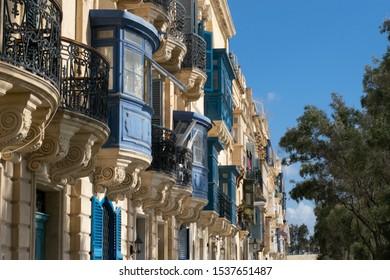 Balcony on buildings in Malta