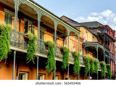 Balcony with Plants 12 in the French Quarter New Orleans USA
