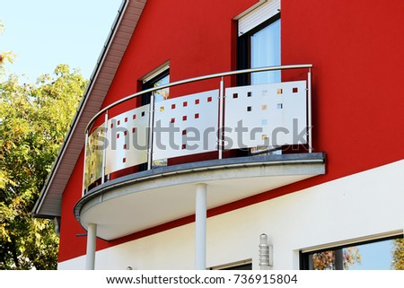 Balcony railing with stainless steel