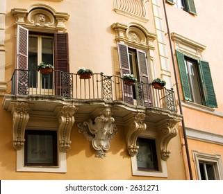 A Balcony in Rome, Italy