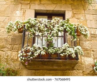 Balcony in Sos del rey calolico, Spain