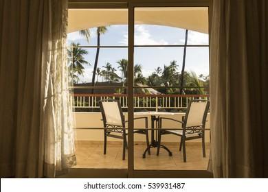 balcony through the sliding glass door