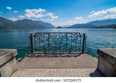 Balcony and view on lake Como