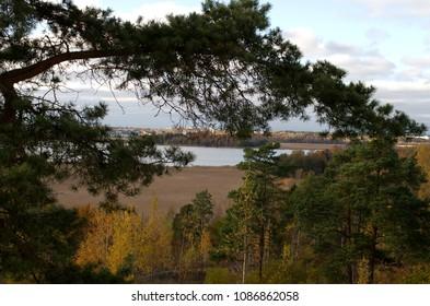 Balcony view towards Vanhankaupunginlahti in Helsinki