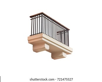 balcony,isolated on white background with clipping path.