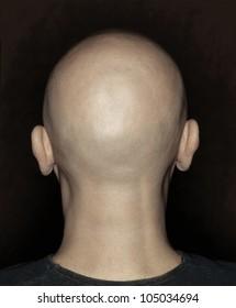 Bald man head taken from behind