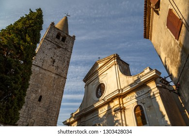 BALE / CROATIA - AUGUST 2015: Church in the old town of Bale (Valle) in Istria, Croatia