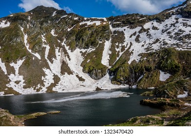 Balea Lake in the Carpathian Mountains