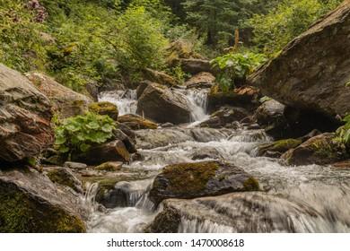 Balea river flow in transfagarasan Roumania