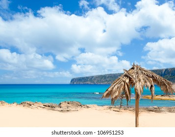 Balearic Formentera Escalo beach white sand and turquoise water