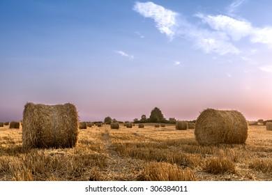 Bales of hay.