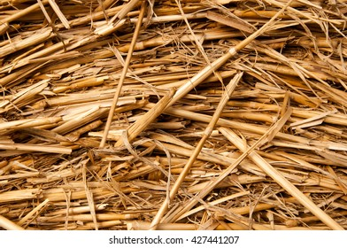 Bales of straw background